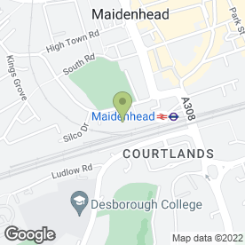 Map of MAIDENHEAD TYRES & EXHAUSTS in Maidenhead, berkshire