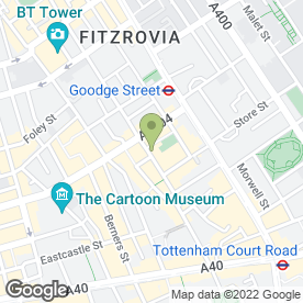 Map of Pied A Terre Restaurant in London, london