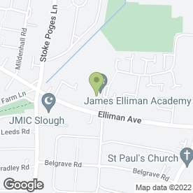 Map of James Elliman School in Slough, berkshire