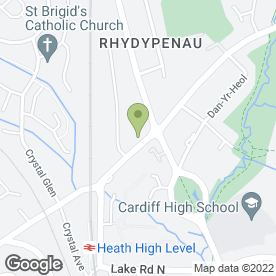 Map of The Beauty Spot in Rhyd-Y-Pennau, Cardiff, south glamorgan