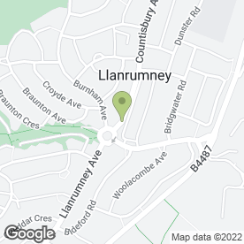 Map of CARNATIONS in Llanrumney, Cardiff, south glamorgan