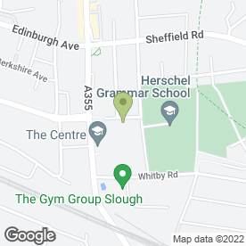 Map of Slough Centre Nursery School in Slough, berkshire