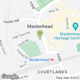 Map of The Garden Prince in Maidenhead, berkshire