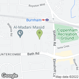 Map of Chiltern Printers (Slough) Ltd in Cippenham, Slough, berkshire