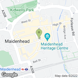 Map of Oakleys of Maidenhead in Maidenhead, berkshire