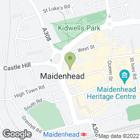Map of Beds are Uzzz in Maidenhead, berkshire