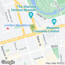Map of Thai Spa in London, london