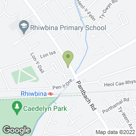 Map of EMYR PIERCE SOLICITORS in Rhiwbina, Cardiff, south glamorgan