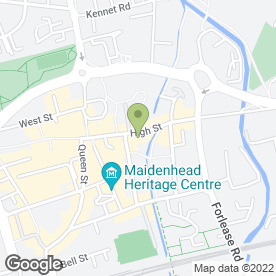 Map of Home Services Plumbing Heating And Drainage in Maidenhead, berkshire