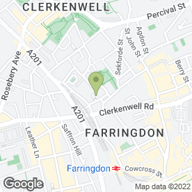 Map of The Green in London, london