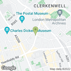 Map of Clerkenwell Motors in London, london