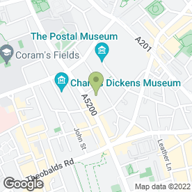 Map of Coram James Ltd (Art And Antique Valuers) in 21, Wren Street, London, london