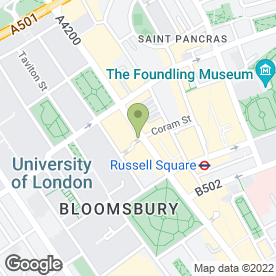 Map of Bloomsbury Lanes in LONDON, london