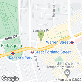 Map of NPower in Regents Place, London, london