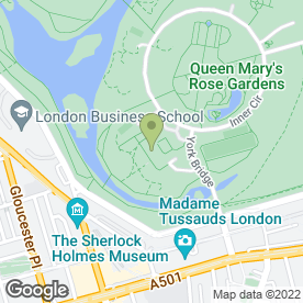 Map of Regent's Conferences & Events in London, london