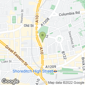 Map of Crowne Plaza - London-Shoreditch in London, london