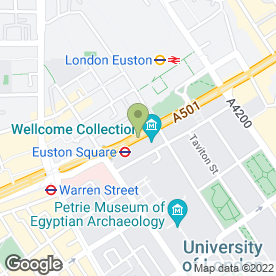 Map of Euston Tap in London, london