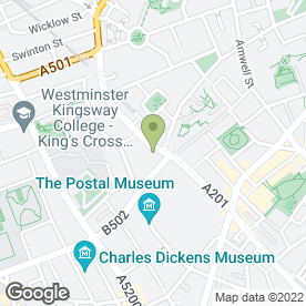 Map of Holiday Inn London-Kings Cross / Bloomsbury in London, london