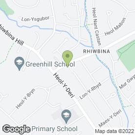 Map of Christopher Richards in Rhiwbina, Cardiff, south glamorgan