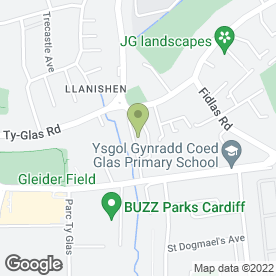 Map of LLANISHEN M.O.T & SERVICE CENTRE in Llanishen, Cardiff, south glamorgan