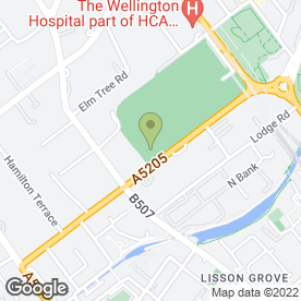 Map of Lord's Cricket Ground in LONDON, london