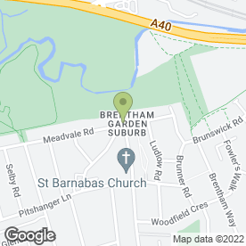 Map of Brentham Club Ltd in Ealing, London, london
