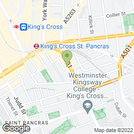 Map of King's Cross Dental Clinic in London, london