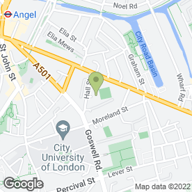 Map of Orlando Richards in London, london