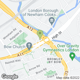 Map of McDonald's Restaurants Ltd in Bow, London, london