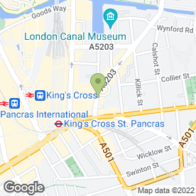 Map of Hair Gallery in London, london