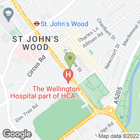 Map of St Johns Wood Aerials & Satellites in London, london