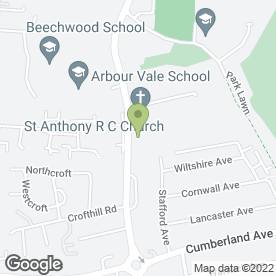 Map of St. Anthony's Catholic Primary School in Farnham Royal, Slough, berkshire