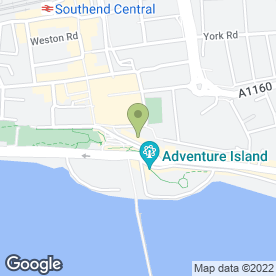 Map of Park Inn Palace in Southend-On-Sea, essex