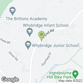 Map of Southend Road Dental Surgery in Rainham, greater london
