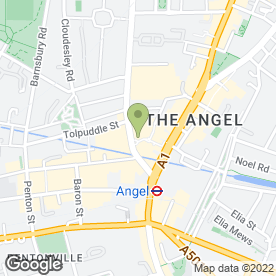 Map of Vue Cinema in Islington, London, london