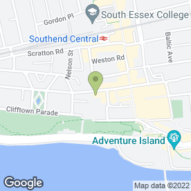 Map of Mobile Car Valeting in Southend On Sea, essex