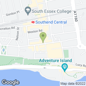 Map of Superdrug Stores plc in Southend-On-Sea, essex