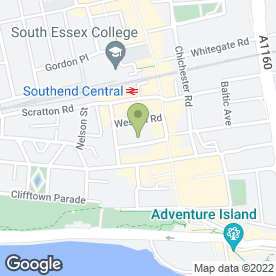 Map of Sorrell in Southend On Sea, essex
