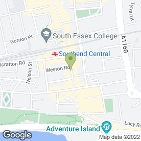 Map of Greggs in Southend-On-Sea, essex