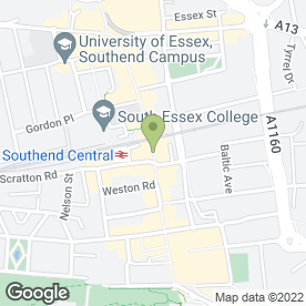 Map of Halifax in Southend-On-Sea, essex