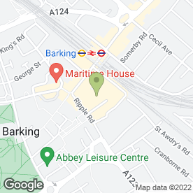 Map of Baskin Robbins Ice Cream Store in Barking, greater london