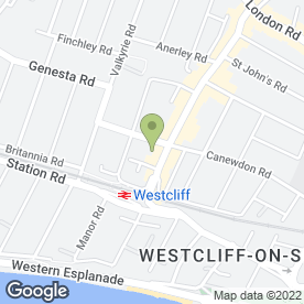 Map of SHAPERS OF WESTCLIFF in Westcliff-On-Sea, essex