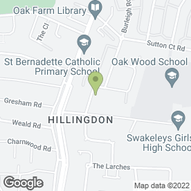 Map of Favours with Love in Hillingdon, Uxbridge, middlesex