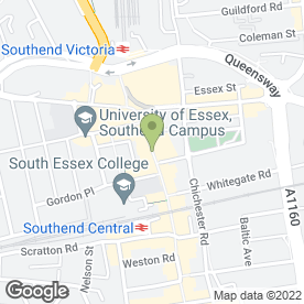 Map of NatWest Bank plc in Southend-On-Sea, essex