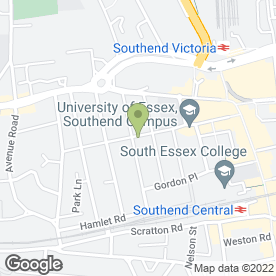Map of Oriental Gourmet Kitchen in Southend-On-Sea, essex