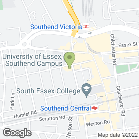 Map of J.B Peek in Southend-On-Sea, essex