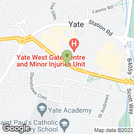 Map of Courtside Surgery in Yate, Bristol, avon