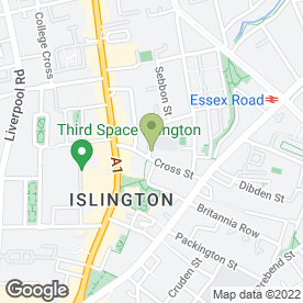 Map of Islington Music in London, london