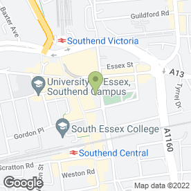 Map of Varsity in Southend-On-Sea, essex