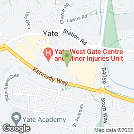 Map of Thomson Bureaux de Change in Yate, Bristol, avon